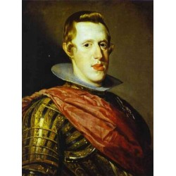 Philip IV in Armour 1628 by Diego Velazquez - Art gallery oil painting reproductions