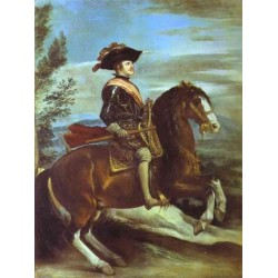 Philip IV on Horseback 1635 by Diego Velazquez - Art gallery oil painting reproductions
