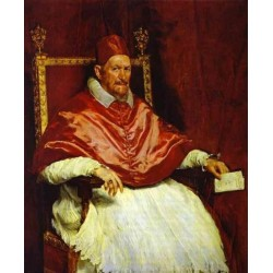 Pope Innocent X 1650 by Diego Velazquez - Art gallery oil painting reproductions