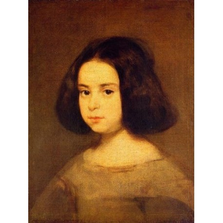 Portrait of a Little Girl by Diego Velazquez - Art gallery oil painting reproductions