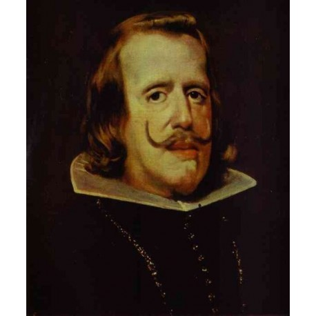 Portrait of Phillip IV 1652-53 by Diego Velazquez - Art gallery oil painting reproductions