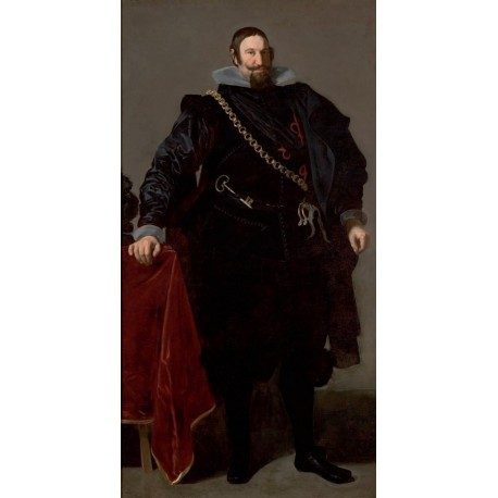 Portrait of the Count-Duke of Olivares 1624 by Diego Velazquez - Art gallery oil painting reproductions