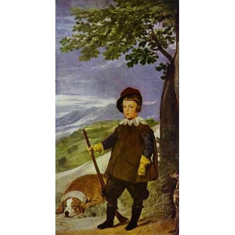 Prince Baltasar Carlos as a Hunter 1636 by Diego Velazquez - Art gallery oil painting reproductions