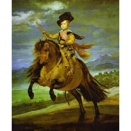 Prince Baltasar Carlos on Horseback 1634-35 by Diego Velazquez - Art gallery oil painting reproductions