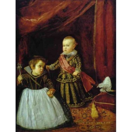Prince Baltasar Carlos with a Dwarf 1631 by Diego Velazquez - Art gallery oil painting reproductions
