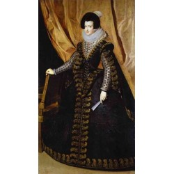 Queen Isabel, Standing 1631-32 by Diego Velazquez - Art gallery oil painting reproductions