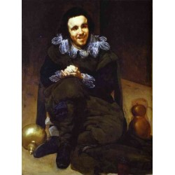 The Buffoon Calabazaz 1637-39 by Diego Velazquez - Art gallery oil painting reproductions
