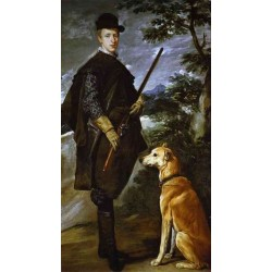 The Cardinal Infante Don Fernando as a Hunter 1632-33 by Diego Velazquez - Art gallery oil painting reproductions