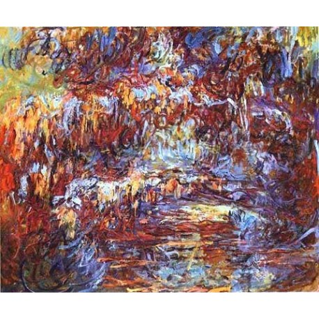 The Japanese Bridge in Giverny by Claude Oscar Monet - Art gallery oil painting reproductions