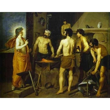 The Forge of Vulcan 1630 by Diego Velazquez - Art gallery oil painting reproductions