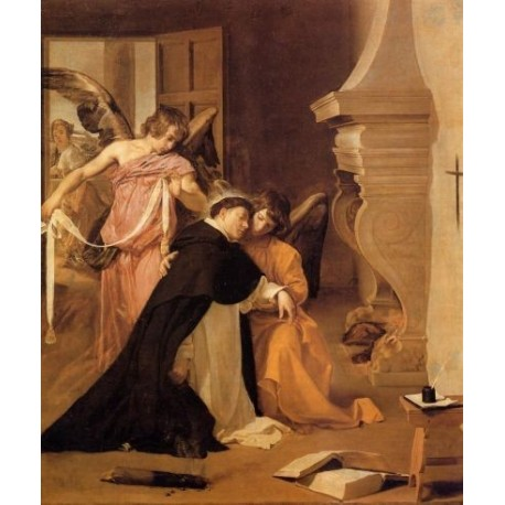 The Temptation of St. Thomas Aquinas by Diego Velazquez - Art gallery oil painting reproductions