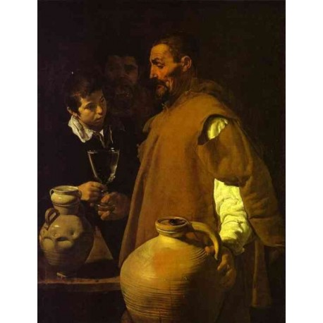 The Waterseller in Seville 1620 by Diego Velazquez - Art gallery oil painting reproductions