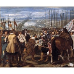 The Surrender of Breda 1634-35 by Diego Velazquez - Art gallery oil painting reproductions