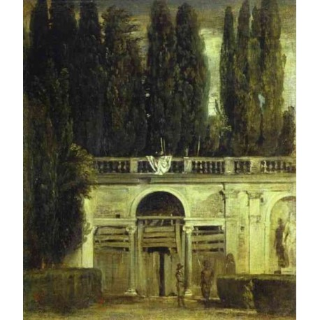 Villa Medici in Rome 1630 by Diego Velazquez - Art gallery oil painting reproductions
