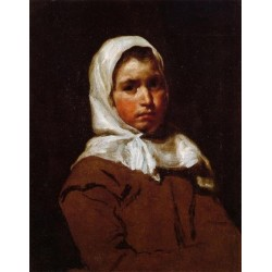 Young Peasant Girl by Diego Velazquez - Art gallery oil painting reproductions