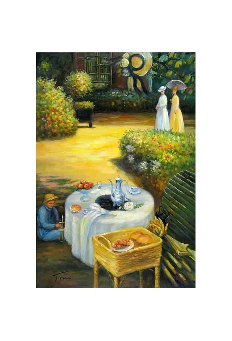 The Luncheon 3 By Claude Oscar Monet Art Gallery Oil