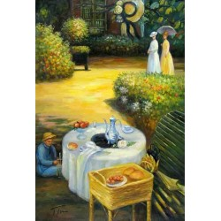 The Luncheon 3 by Claude Oscar Monet - Art gallery oil painting reproductions