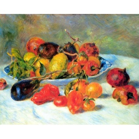 Fruits from the Midi by Pierre Auguste Renoir-Art gallery oil painting reproductions