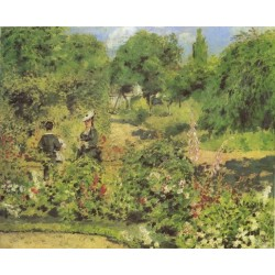 Garden at Fontenay 1874 by Pierre Auguste Renoir-Art gallery oil painting reproductions