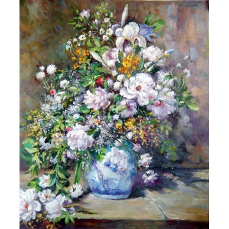 Grande Vaso di Fiori (Spring Bouquet) by Pierre Auguste Renoir-Art gallery oil painting reproductions