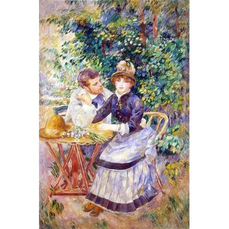 In the Garden by Pierre Auguste Renoir-Art gallery oil painting reproductions