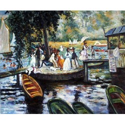 La Grenouillre by Pierre Auguste Renoir-Art gallery oil painting reproductions