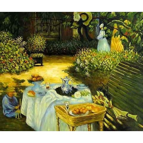 The Luncheon 2 by Claude Oscar Monet - Art gallery oil painting reproductions