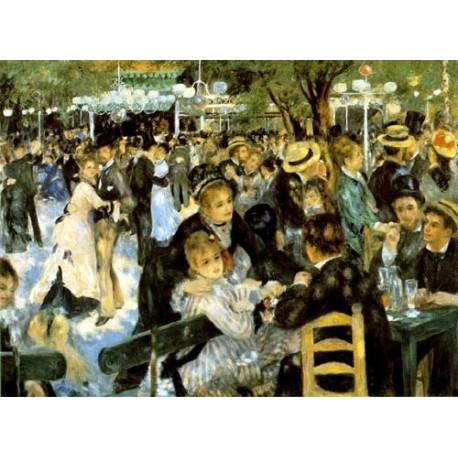 La Moulin de la Galette by Pierre Auguste Renoir-Art gallery oil painting reproductions