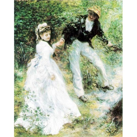 La Promenade by Pierre Auguste Renoir-Art gallery oil painting reproductions