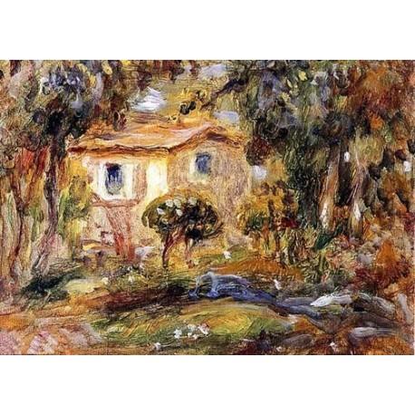 Landscape by Pierre Auguste Renoir-Art gallery oil painting reproductions