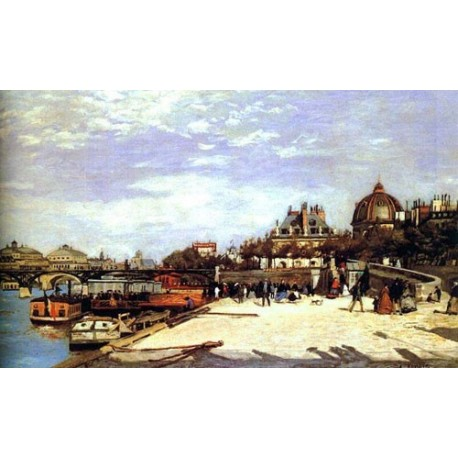 Le Pont des Arts NY by Pierre Auguste Renoir-Art gallery oil painting reproductions