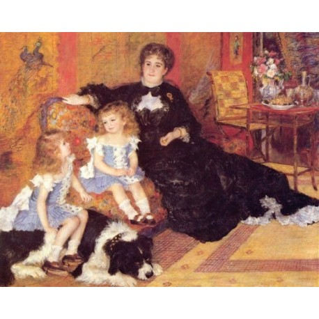 Madame Charpentier and Her Children 1878 by Pierre Auguste Renoir-Art gallery oil painting reproductions