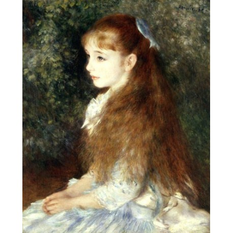Mademoiselle Irene by Pierre Auguste Renoir-Art gallery oil painting reproductions