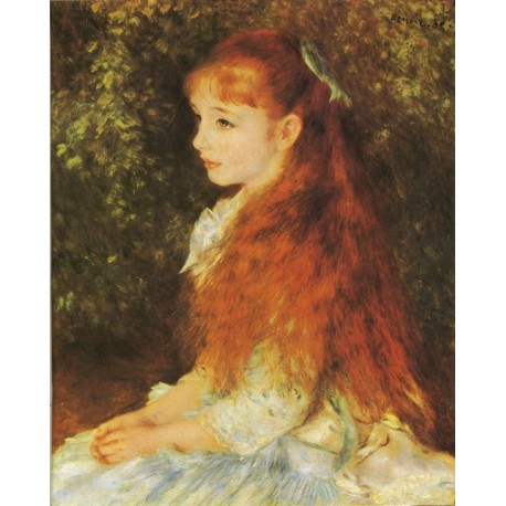 Mlle. Irene Cahen d' Anvers 1880 by Pierre Auguste Renoir-Art gallery oil painting reproductions