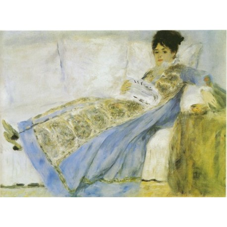 Mme. Monet 1872 by Pierre Auguste Renoir-Art gallery oil painting reproductions