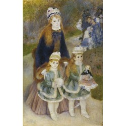 Mother and Children 1876-78 by Pierre Auguste Renoir-Art gallery oil painting reproductions