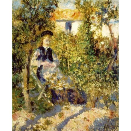 Nini in the Garden by Pierre Auguste Renoir-Art gallery oil painting reproductions