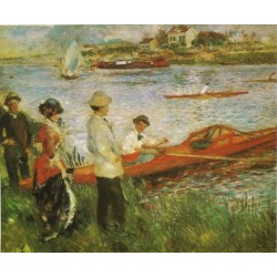 Oarsmen at Chatou 1879 by Pierre Auguste Renoir-Art gallery oil painting reproductions