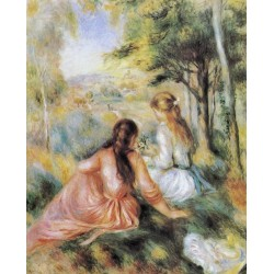 On the Meadow 1890 by Pierre Auguste Renoir-Art gallery oil painting reproductions