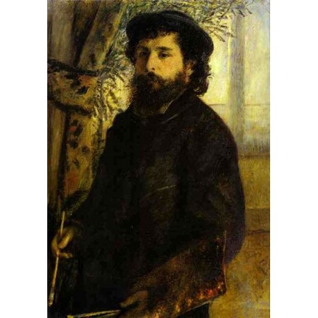 Portrait of Claude Monet by Pierre Auguste Renoir-Art gallery oil painting reproductions