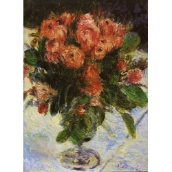 Roses 1890 by Pierre Auguste Renoir -Art gallery oil painting reproductions