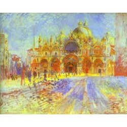 St. Marks Square, Venice by Pierre Auguste Renoir-Art gallery oil painting reproductions