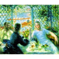The Canoeists Luncheon by Pierre Auguste Renoir-Art gallery oil painting reproductions
