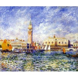 The Doges Palace, Venice by Pierre Auguste Renoir-Art gallery oil painting reproductions