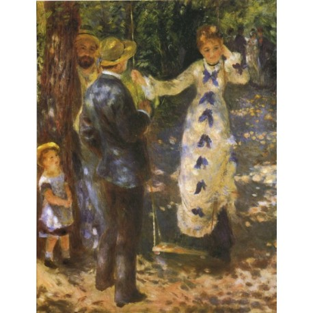 The Swing 1876 by Pierre Auguste Renoir-Art gallery oil painting reproductions