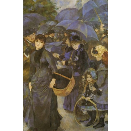 The Umbrellas 1883 by Pierre Auguste Renoir-Art gallery oil painting reproductions