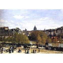 The Quai du Louvre Paris by Claude Oscar Monet - Art gallery oil painting reproductions