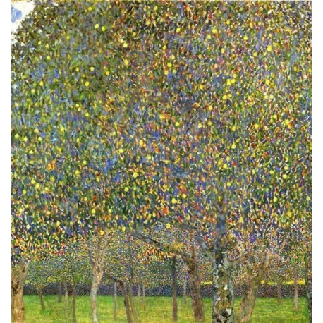 Pear Tree by Gustav Klimt-Art gallery oil painting reproductions