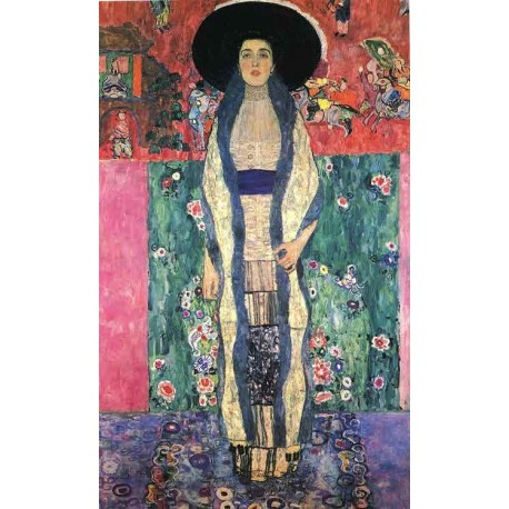 Portrait of Adele Bloch-Bauer by Gustav Klimt-Art gallery oil painting reproductions