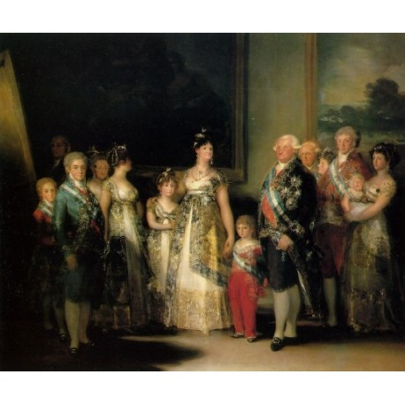 Family of Carlos IV by Francisco de Goya-Art gallery oil painting reproductions
